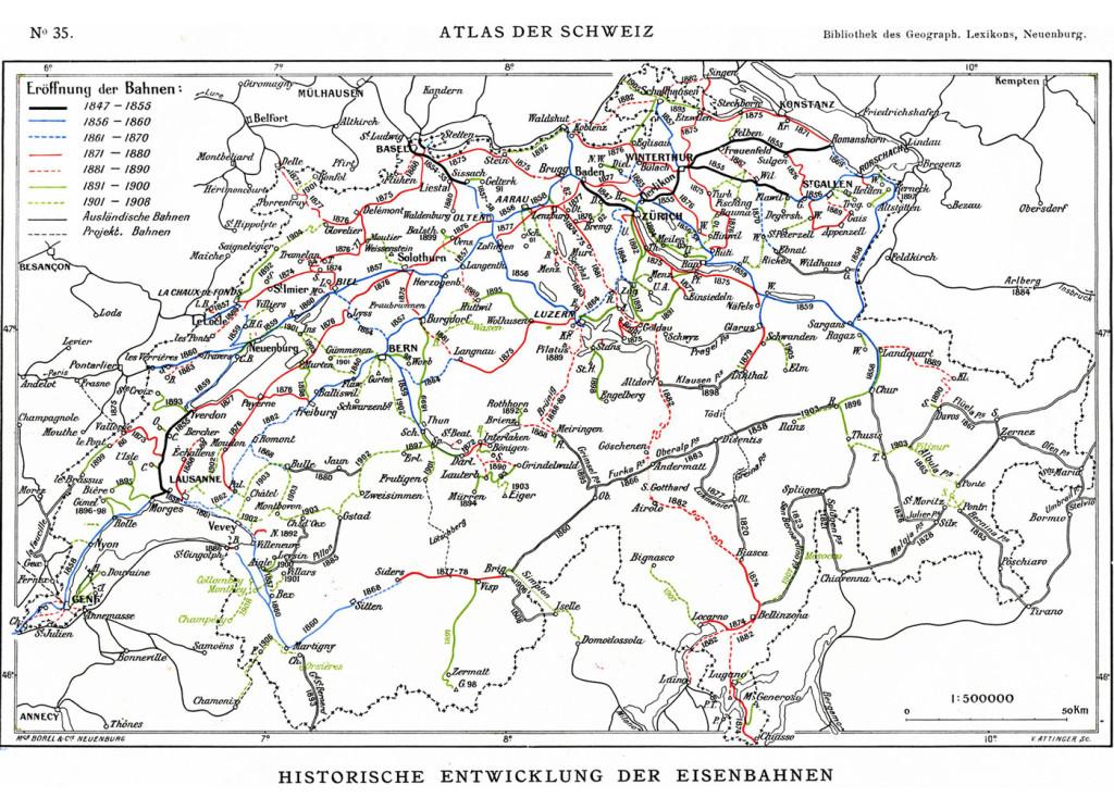 Eisenbahnen Schweiz bis 1907
