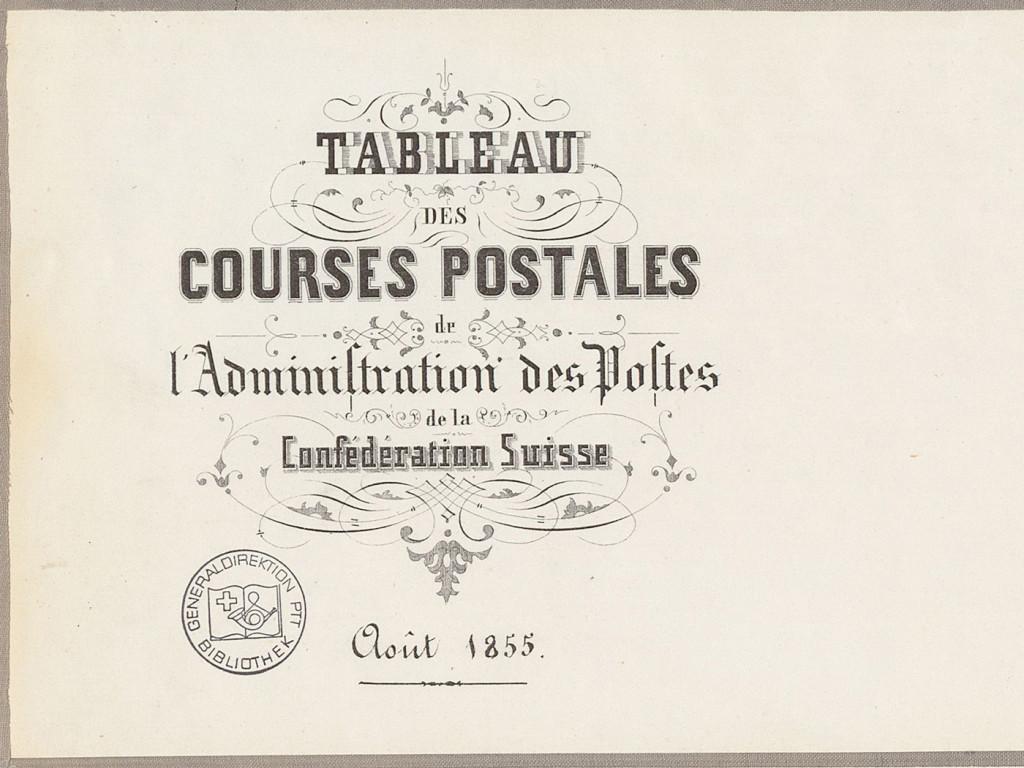 Postkutschenkurse Schweiz 1855