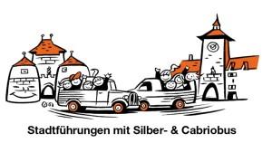 Silber-Cabriobus